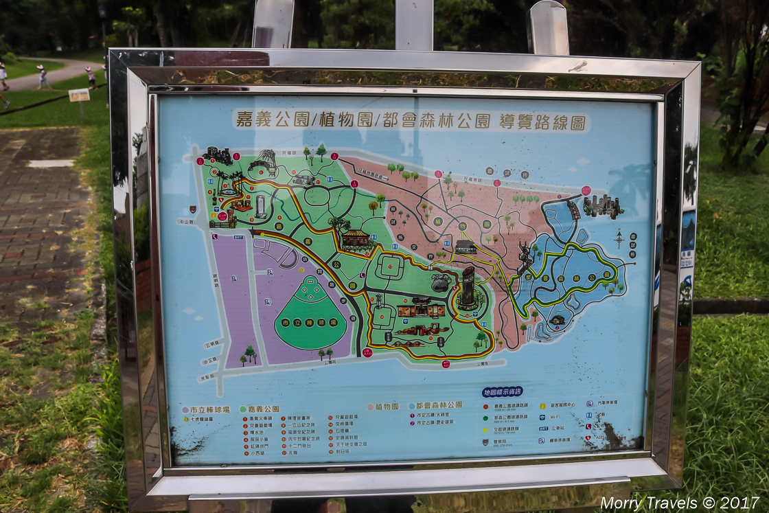 Map of the Botanical Garden and Park