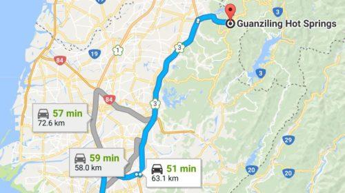 Tainan to Guan Zi Ling Hot Springs
