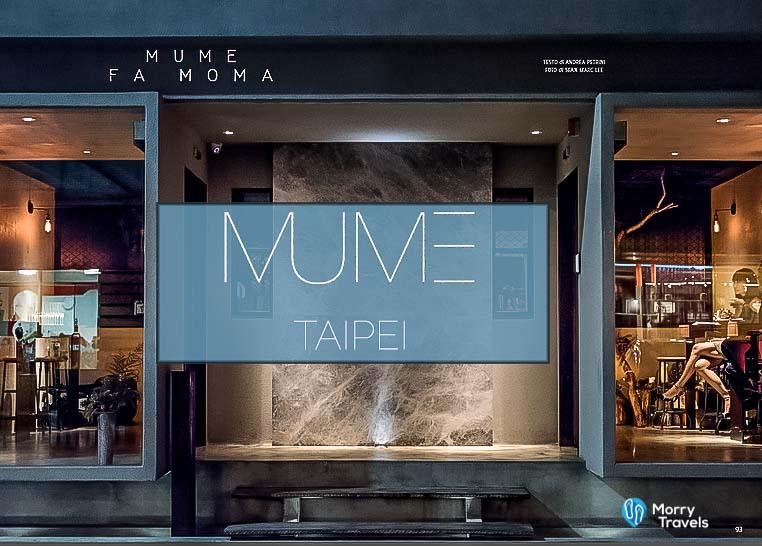 MUME TAIPEI: ASIA'S BEST 50 RESTAURANTS