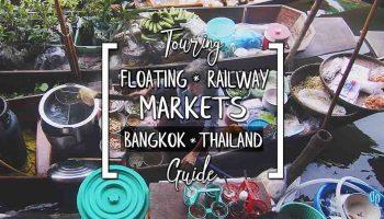 Touring Bangkok's Floating Market Tour Train & Railway Markets Wat Bang Kung Temple