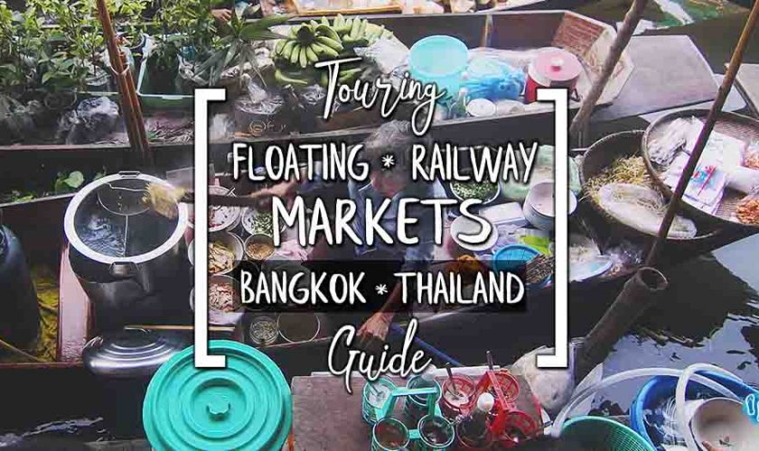 Touring Bangkok's Floating Market Tour Train & Railway Markets Wat Bang Kung Temple