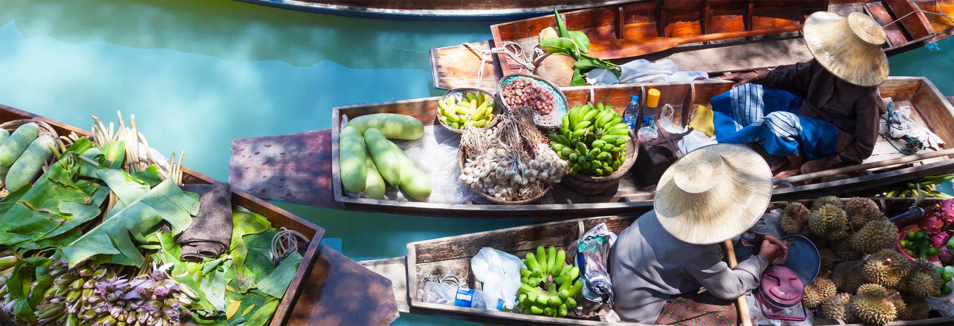 Touring Bangkok's Floating Market Train & Railway Markets