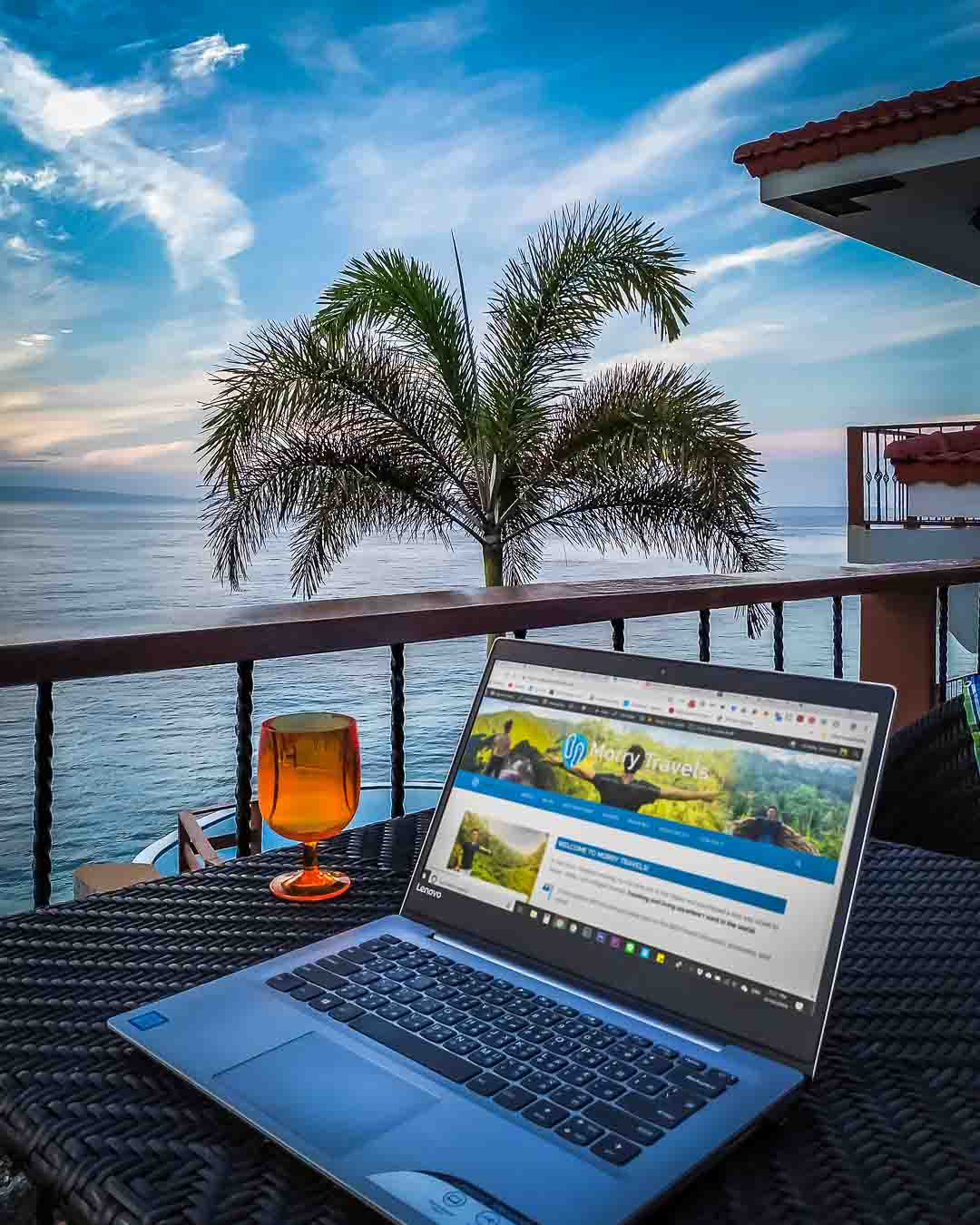 Digital Nomad Dream - Asian-American Solo Travel & Lifestyle | Laptop Ocean Beach | Morry Travels